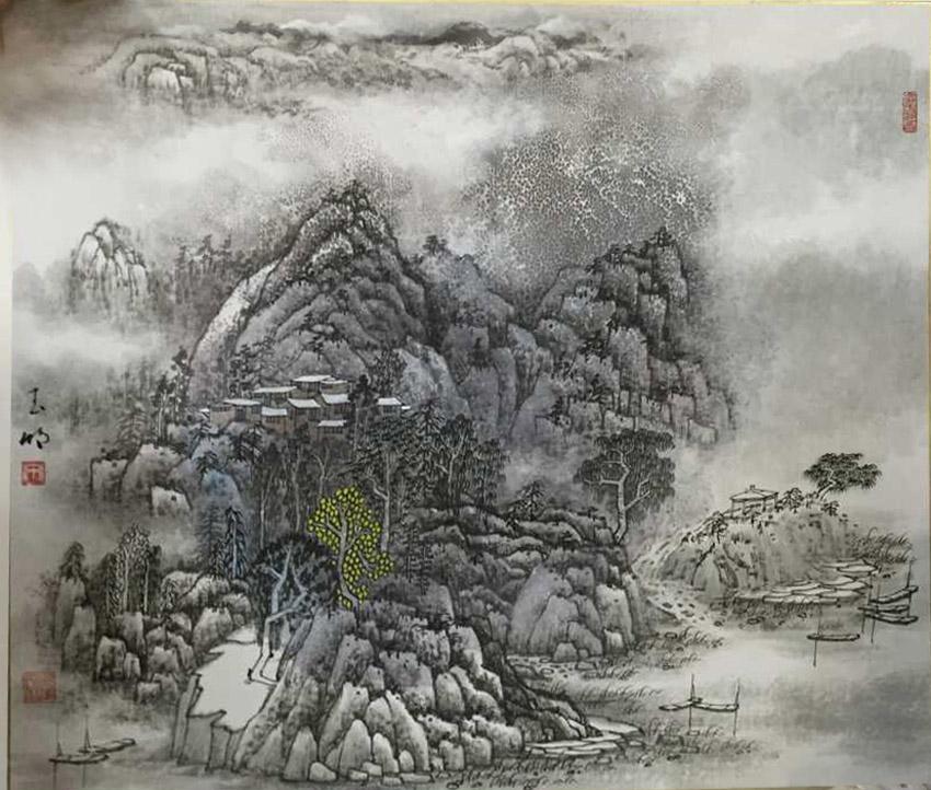 《风景画(春夏秋冬)-1》--宋玉明 68*68